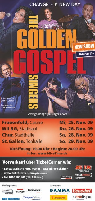 Flyer Golden Gospel Singers